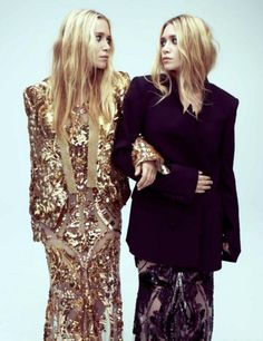 "Olsen twins. ""A friend is, as it were, a second self"" (60 years prior to our bag lady picture.)"
