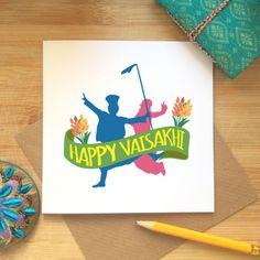 Happy Vaisakhi Card Baisakhi Celebrations Sikh by KushiyaDesigns