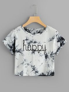 Varsity Striped Crop Tee T-Shirts, Buy Women's T-shirts at Cheap Prices… – Tanja Holtzmann Cute Girl Outfits, Cute Casual Outfits, Stylish Outfits, Women's Casual, Cute Crop Tops, Crop Top Shirts, Crop Tee, Cute T Shirts, Tye Die Shirts