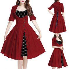 (Y) Lace Up Back Polka Dot High Waist #Dress #Free Shipping <3 Y or N <3 click here>>>https://goo.gl/YqkbPB more style>>>https://goo.gl/y7PY6e