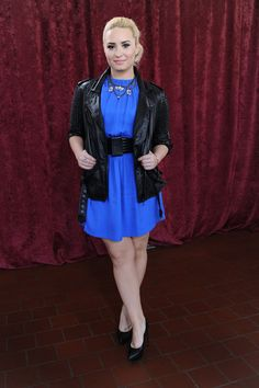 Demi head to toe, day 2: Christopher Kane dress, Laurent belt, Philip Lim jacket, St Laurent shoes