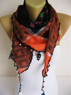 Trend Scarf Skull Scarf Scarves-gift Ideas For Her