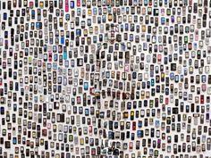 Hiding in the City — Mobile Phone, 2012. Photo: courtesy of Eli Klein Fine Art, © Liu Bolin