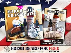 Fresh Beard for Free Giveaway 3-2016 - https://www.hobofresh.com/fresh-beard-for-free-giveaway-3-2016/