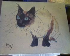 cats+siamese+art | Siamese Cat: Paintings Contemporary Canvas Animal Huq?