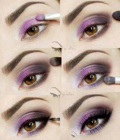 Maquillaje morado