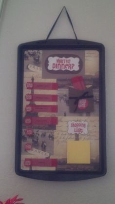 My combo magnetic menu board.  A combination of two Pins. :)