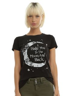Hate You To The Moon Girls T-ShirtHate You To The Moon Girls T-Shirt, BLACK