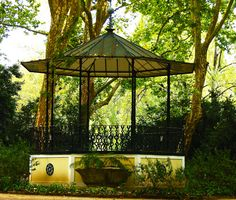 Bandstand in D. Pedros park, Caldas da Rainha