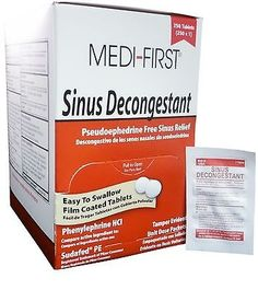 awesome Sinus & Nasal Decongestant (250 1-packet) 2 Boxes - First Aid Only MS71265 - For Sale View more at http://shipperscentral.com/wp/product/sinus-nasal-decongestant-250-1-packet-2-boxes-first-aid-only-ms71265-for-sale/