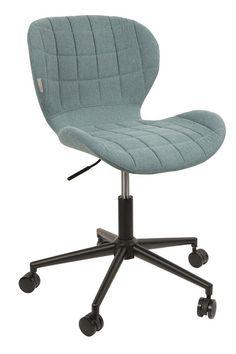 OMG Kontorstol - Smart kontorstol med skumpolstring og flot blåt stofbetræk i et moderne design.