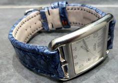Bracelet Perche du Nil Bleu Gouache pour une Hermès