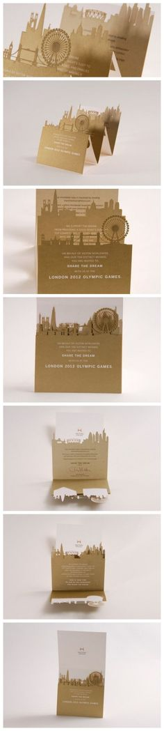 cut-out silhouettes multi-fold overlay Paper Design, Book Design, Layout Design, Print Design, Stationery Design, Brochure Design, Pop Up Invitation, Invitation Ideas, Printing And Binding