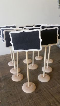 CUTE   10 x Mini Blackboard on Stand - Wedding Table Numbers - Place Cards - Stalls