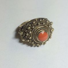 Spotted while shopping on Poshmark: Vintage 1960s Coral Ring, Gold Plated Sterling! #poshmark #fashion #shopping #style #Vintage #Jewelry