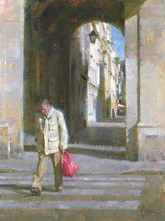 Jennifer McChristian   'Strolling Parisian' 12x16 inches, oil on canvas panel