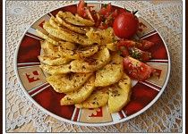"Brambory""polopečáky""z mikrovlnky Pasta Salad, Microwave, Treats, Chicken, Breakfast, Ethnic Recipes, Food, Crab Pasta Salad, Sweet Like Candy"