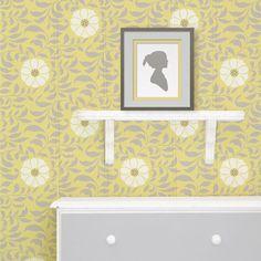 Flower Stencils | Folk Flower Pattern Stencil | Royal Design Studio