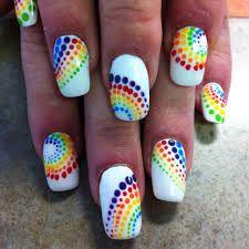Resultado de imagen para uñas arcoiris