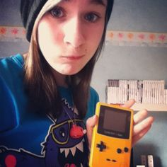 cupcakez0mbie Gameboy Color is awesome c: #gameboy #color #gameboycolor #gbg #nintendo #awesome #games #gaming #oldschool #cupcakecult #tshirt #gloomybear #necklace #brown #black #blue #hair #derp