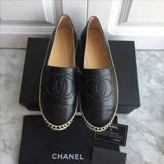 Chanel woman shoes leather espadrilles