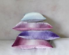 dusty velvet hand-painted cushion covers