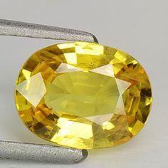 1.70 cts natural yellow sapphire madagascar gemstone