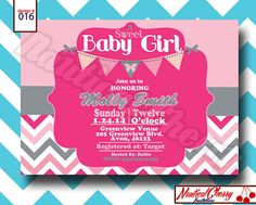 Baby Girl Baby Shower Invitation-----PRINTABLE