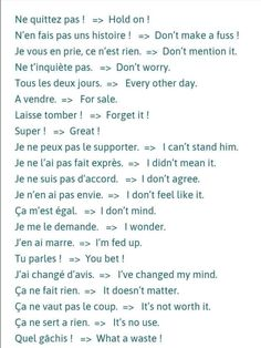 Get french expressions HD Wallpaper [] asugio-wall. French Slang, Gcse French, French Verbs, French Grammar, French Phrases, French Quotes, Basic French Words, How To Speak French, Learn French