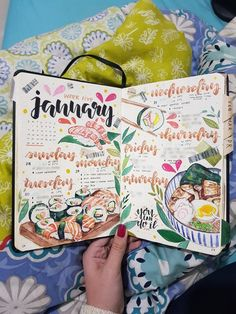 The spread that I'm most proud of making so far: Japanese Cuisine Inspired! : bulletjournal