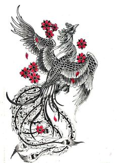 29 Amazing Phoenix Tattoo Ideas You Will Enjoy - Phönix - Tattoo Future Tattoos, New Tattoos, Body Art Tattoos, Tattoo Drawings, Sleeve Tattoos, Drawings Of Feather, Tatoos, Tattoo Hip, Yakuza Tattoo