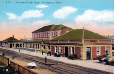 Livingston Montana-my great grandfather worked for the railway. This depot is still there. Dillon Montana, Big Sky Montana, Places To Travel, Places To Visit, Time Travel, Yellowstone National Park, National Parks, Livingston Montana, Small Town America