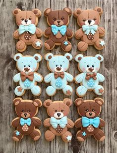 Blue Teddy Bears | Cookie Connection