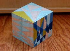 Blue and olive block by ArtbyBethGoolsby on Etsy, $20.00