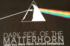 Zermatt is located at the North side of the Toblerone shaped Matterhorn and this indeed is the dark side of th