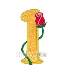 Rose Number 1 Digital Machine Embroidery by ButterflyStitchesemb