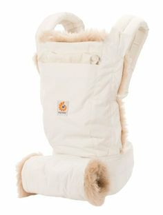ERGO Baby Carrier & Hand Muff - Winter Edition Designer carrier combination: Baby Carrier + Hand Muff. Quilted lining with luxurious sheepskin trim. Baby stays cozy all winter long. Removable quilted muff, which features matching sheepskin trim. Remove the lining and muff, and you have a stunningly simple lightweight carrier.  #ERGObaby #BabyProduct