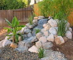 Do you want a waterfall, but don't like the pond that goes with it? More water features on the link.