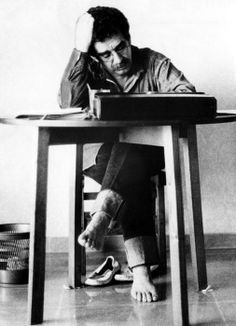 """Gabriel Garcia Marquez """"Ultimately, literature is nothing but carpentry. With both you are working with reality, a material just as hard as wood."""" Famous Authors and Their Writing Spaces - The Writing Cooperative Gabriel Garcia Marquez, Michel De Montaigne, Writers And Poets, Writers Write, Book Writer, Book Authors, People Reading, Book People, Chef D Oeuvre"""