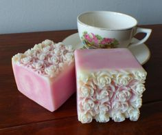 Pink Grapefruit Rose Soap - Vegan - Mother's Day - Palm Free - Handmade Cold Process Soap
