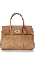 Mulberry The Bayswater croc-effect leather bag