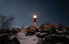 Lighthouse in Kokkola, a fantastic west coast town in Finland! Nc Lighthouses, Old Fisherman, Tourist Information, During The Summer, Tourism, Beautiful Places, Island, City, World