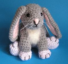 Pdf Crochet Pattern LITTLE GREY BUNNY