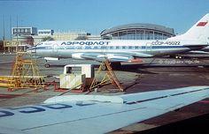Ту-124 СССР-45022 фотографируем на аэродроме Киев 1978