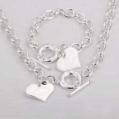 tiffany necklace heart toggle