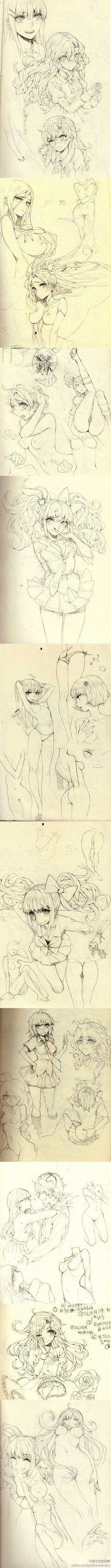 小灰兔一O采集到人体(卡通、原画、3D模型)
