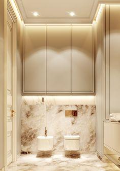 Neoklassizistisches Apartment - Full CG on Behance - HOME - Interieur Bathroom Design Luxury, Modern Bathroom, Home Interior Design, Small Bathroom, Master Bathroom, Master Baths, Bathroom Black, Boho Bathroom, Kitchen Modern