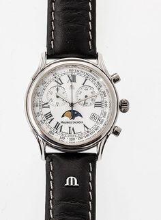 Maurice Lacroix Chronometer Stahl. Quarz. Weißes Zifferblatt mit römischen Ziffern, kleiner Sekun — Uhren
