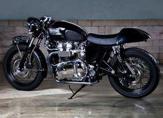 """meandmysneakers:  """"Triumph Bonneville T100 Cafe Racer  """""""