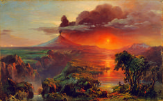 Frederic Edwin Church - Oil Study of Cotopaxi,  - 1861 - Collection of Nelson…